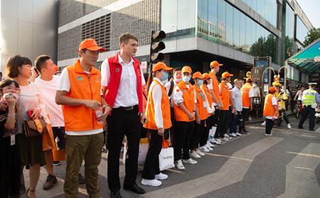 Russian student volunteers in Hangzhou