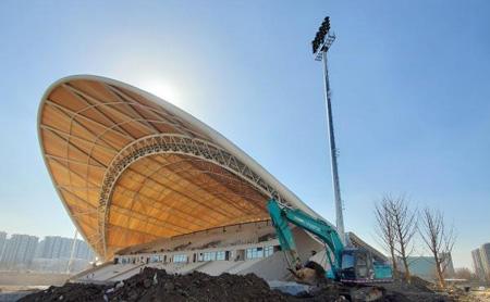 Field hockey stadium for Hangzhou 2022 nears completion