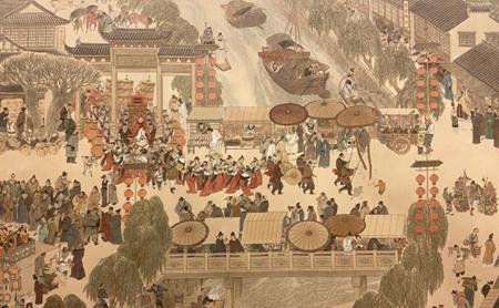 Gongbi exhibition presents atmosphere of splendor